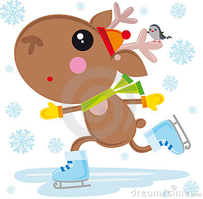 Ice skates reindeer