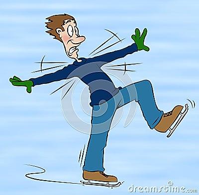 Ice Skating Cartoon