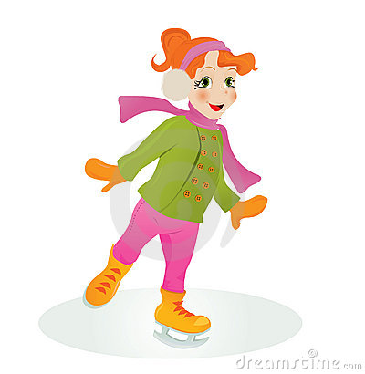 Ice skating girl.