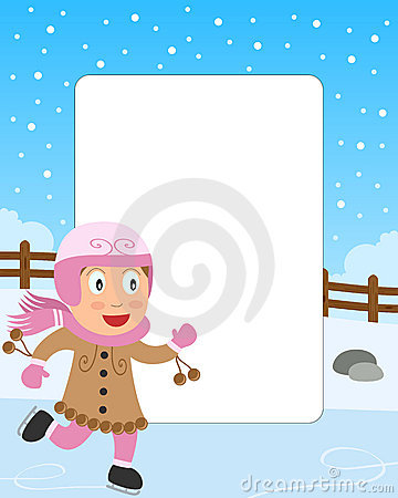 Ice Skating Girl Photo Frame
