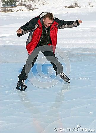Ice Skating on mountain like