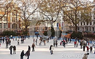 Ice Skating at the Natural History Museum Editorial Image