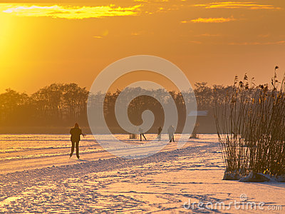 Ice skating in the Netherlands