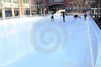 Ice Skating Rink Editorial Stock Image