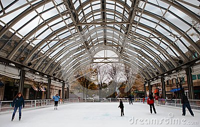 Ice Skating Rink Opening Weekend Virginia Editorial Stock Photo