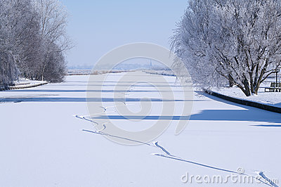 Ice Skating Tracks Stock Photography - Image: 25244662