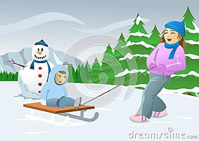 Ice Skiing Children