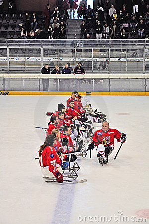 Ice Sledge Hockey Editorial Stock Image