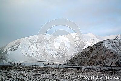 Ice and snow tibetan plateau