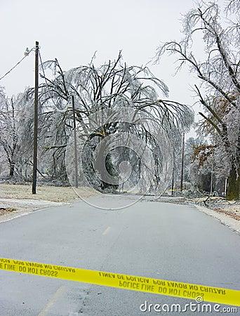 Ice Storm Road Block