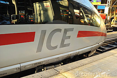 ICE Super fast train on the platform Editorial Stock Photo