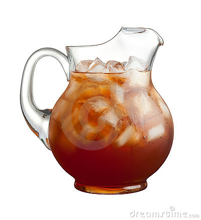 Free Ice Tea Pitcher Isolated Royalty Free Stock Photo - 15860705