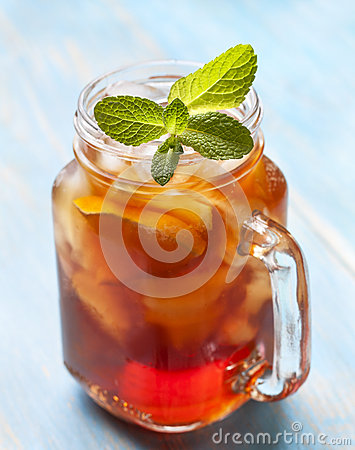 Free Ice Tea With Mint And Lemon Stock Images - 65869124