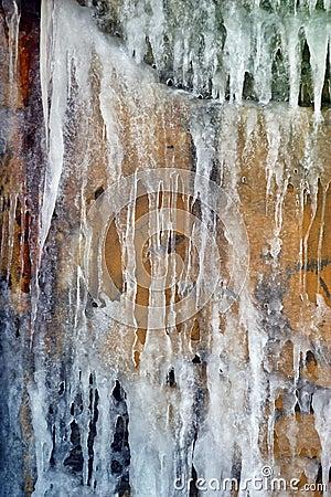 Ice. Texture
