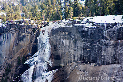 Ice on Vernal Falls