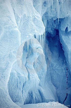 Ice wall vertical