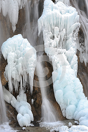 Free Ice Waterfall Royalty Free Stock Images - 28658079
