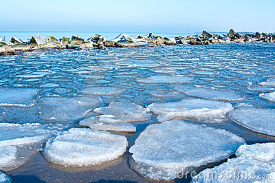 Ice winter sea
