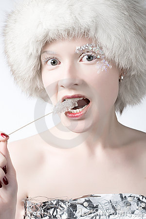 Free Ice Woman Stock Photography - 2634862