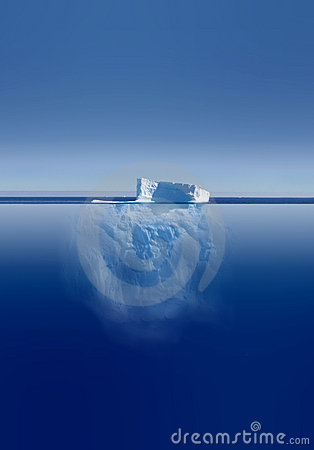 Free Iceberg Above And Below Stock Image - 1653191