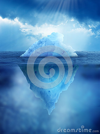 Iceberg Above And Below Water