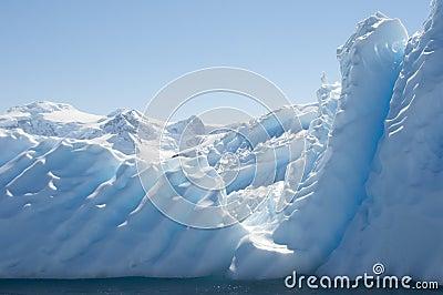 Iceberg in Antarctic ocean