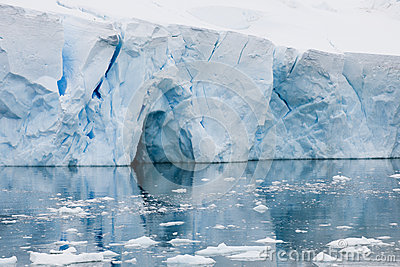 Iceberg in Antarctica with reflects