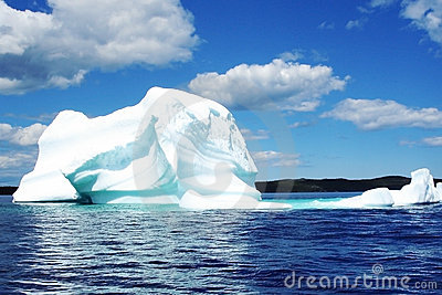 Iceberg in blue sea