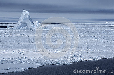 Iceberg di mare di Weddel dell Antartide nel giacimento di ghiaccio