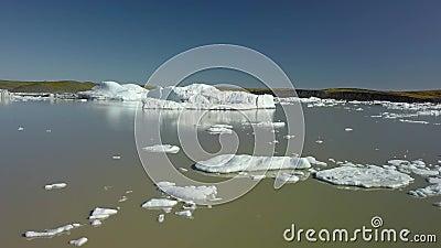 Iceberg em Isl?ndia video estoque