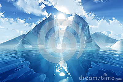 Iceberg en mer calme