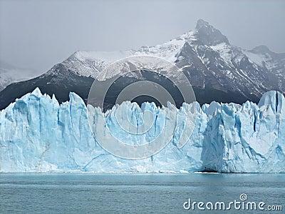 Iceberg floating on lake Perito Moreno Glacier