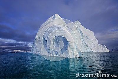 Iceberg - Franz Joseph Fjord - Greenland Stock Photo