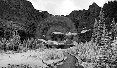 Iceberg Lake Landscape In Infrared