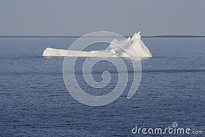 Iceberg Resembling Sinking Ship