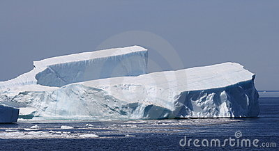 Iceberg Resembling a Tuning Fork