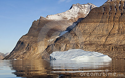 Iceberg in Scoresbysund in Greenland