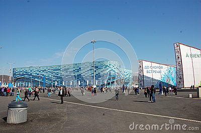 Iceberg stadium Olympic Park at XXII Winter Olympic Games Sochi Editorial Stock Photo