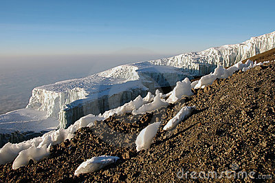 Iceberg at the summit of mount Kilimanjaro