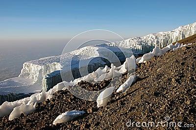 Iceberg at the summit of mount Kilimanjaro