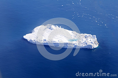 Iceberg with supraglacial pond