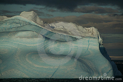 Iceberg with surrealistic blue