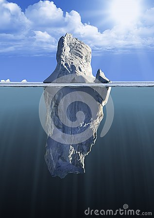Free Iceberg With Above And Underwater View Royalty Free Stock Photo - 103928355