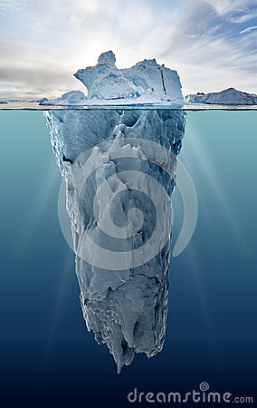 Free Iceberg With Underwater View Royalty Free Stock Images - 61080869