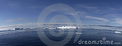Icebergs on Antarctica