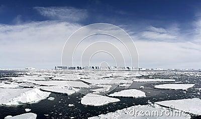 Icebergs on Antarctica