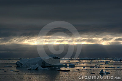 Icebergs in the Disco Bay, Ilulissat