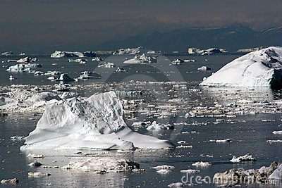 Icebergs in the Disco Bay, Ilulissat