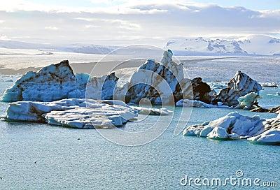 Icebergs in Jokulsarlon lagoon
