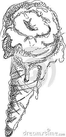 Icecream cone handmade sketch